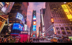 0035 NEW YORK TIMES SQUARE SUNSET