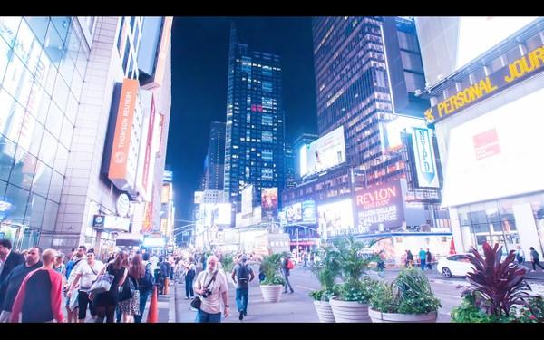 0036 NEW YORK TIMES SQUARE NIGHT