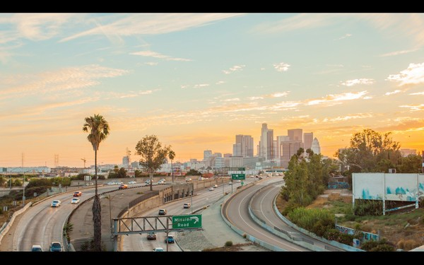 0015 LOS ANGELES DOWNTOWN SUNSET