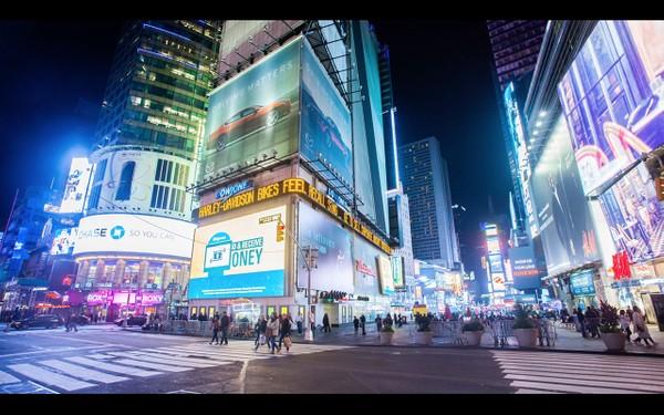 0041 NEW YORK TIMES SQUARE NIGHT