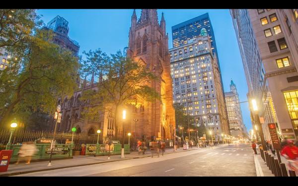 0043 NEW YORK MANHATTAN SUNSET