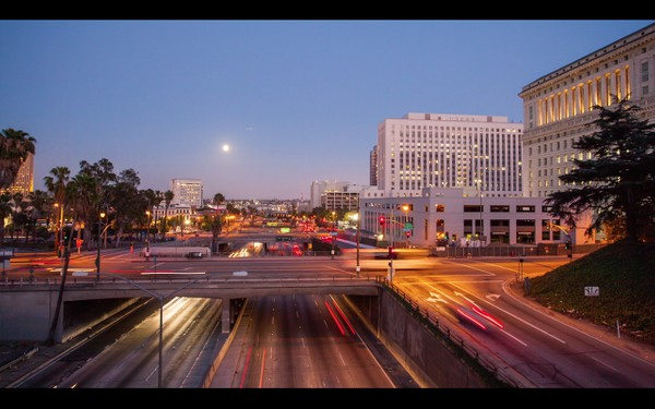 0023 LOS ANGELES DOWNTOWN DUSK
