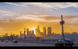 0005 LOS ANGELES DOWNTOWN SUNSET