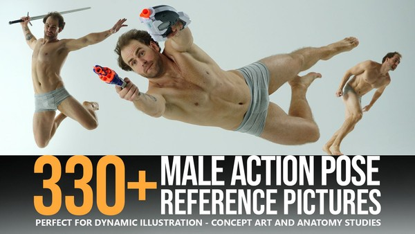 330+ Male Action Pose Reference Pictures