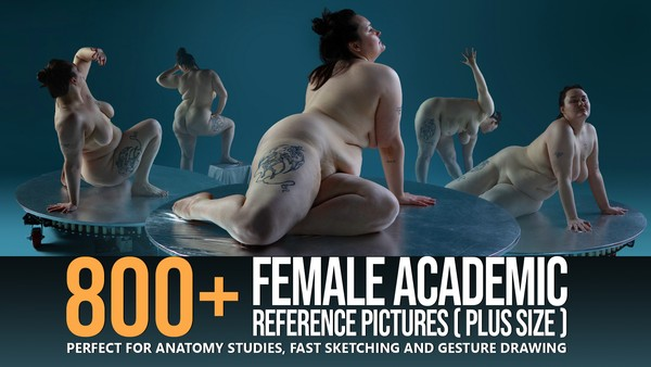 800+ Turnaround Female Academic Poses (Plus Size) pt. I