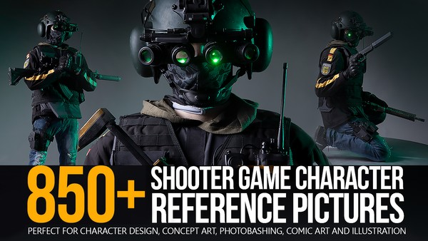 850+ Shooter Game Character Reference Pictures