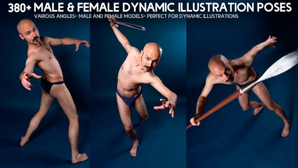 380+ Male & Female Dynamic Illustration Poses