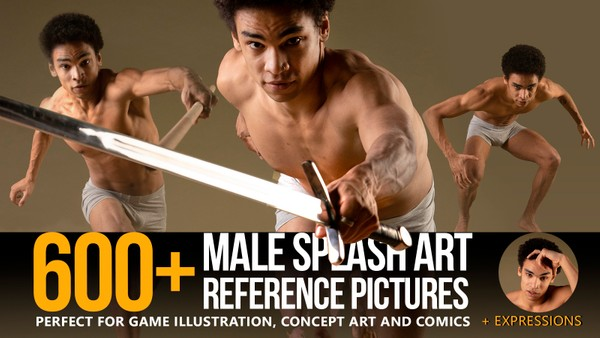 600+ Male Splash Art Pose Reference Pictures