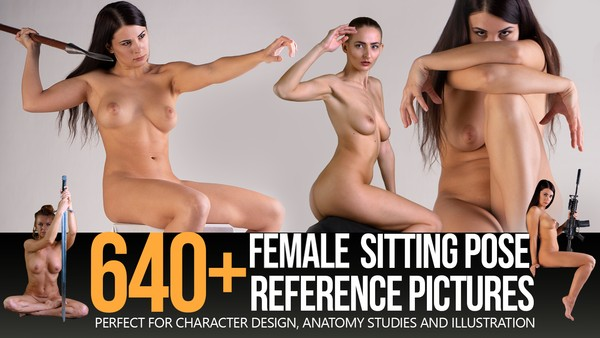 640+ Female Sitting Pose Reference Pictures