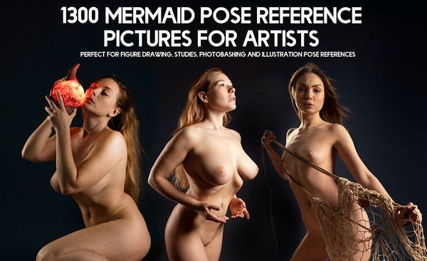 1300+ Mermaid Pose Reference Pictures for Artists