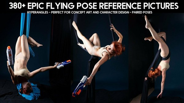 380+ Epic Flying Pose Reference Pictures