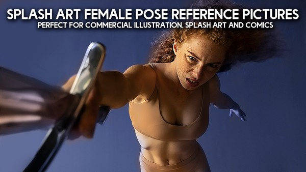 600+ Splash Art Female Pose Reference Pictures for Artists