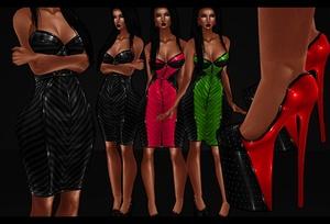 :: DUO LINES DRESS + HEELS ::