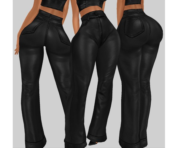 IMVU file sales - LEATHER - wider pants
