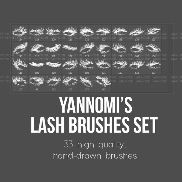 HD Photoshop Brushes - Lash Set
