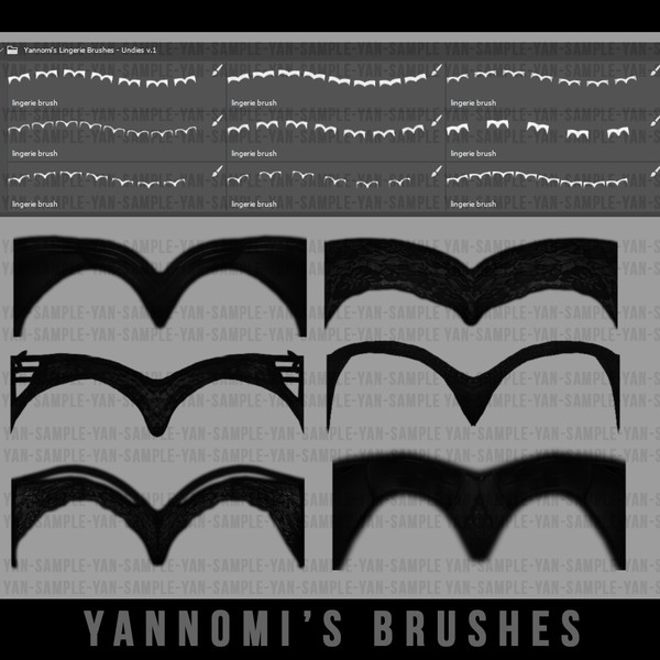 Yannomi's Brushes - undies pack