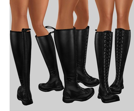 IMVU file sales leather -  stomper boots