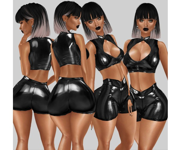 IMVU file sales - latex open chest top