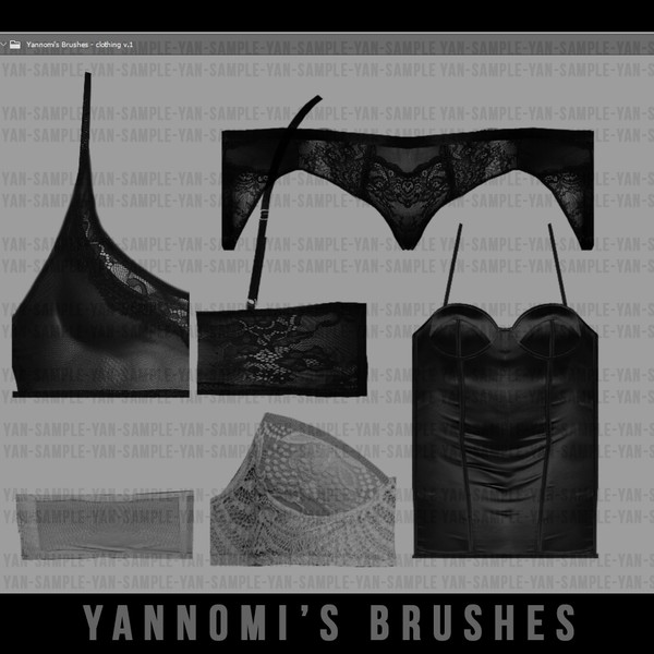 Yannomi's Brushes - clothing v.1
