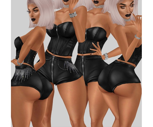 IMVU file sales - leather & rhinestones - shorts HD