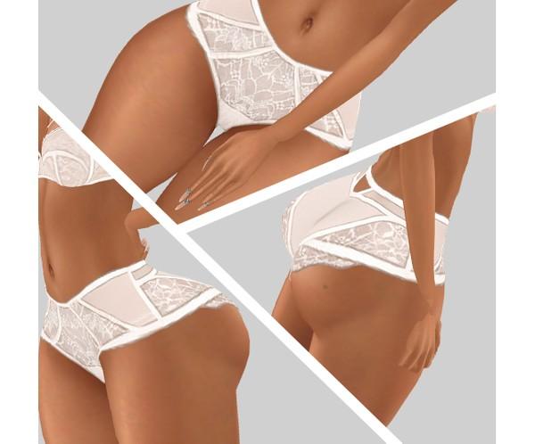 IMVU file sales - lace white shorts