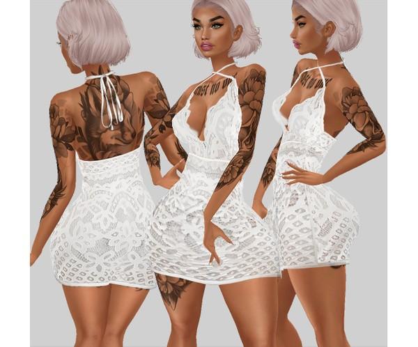 IMVU file sales - white lace - dress 3