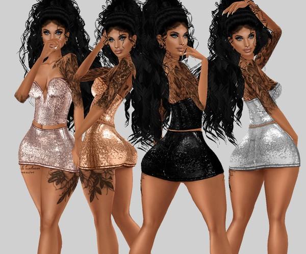 IMVU file sales: sequin and tattoos: skirt