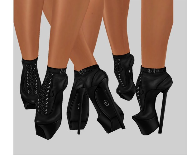 IMVU file sales leather - ballet heels