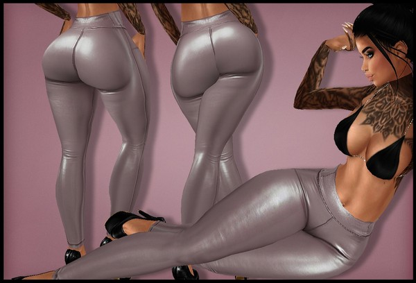 IMVU 2018 - HD PANTS: leather leggins nude