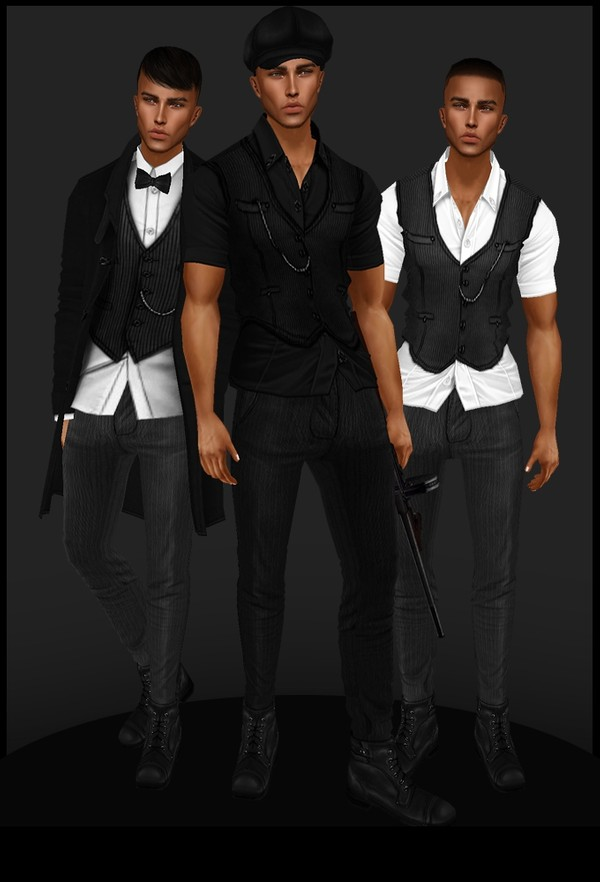 [ IMVU: peaky blinders set ]