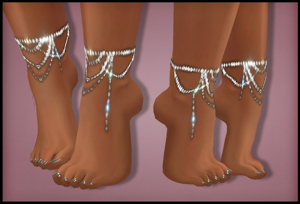 IMVU FILE SALES 2019: rhinestones - garters and feet