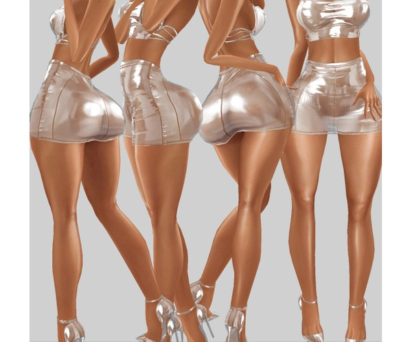IMVU file sales - transparent mini skirt
