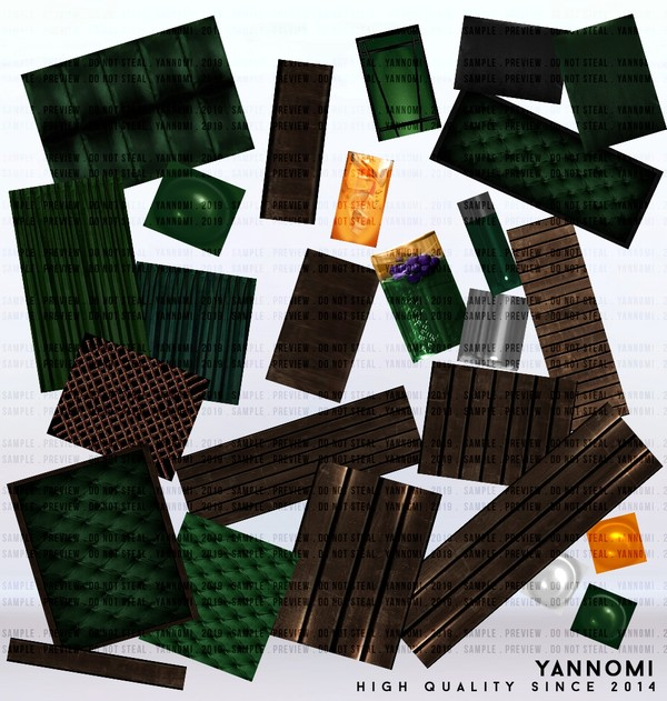 YANNOMI IMVU FS: room pack green