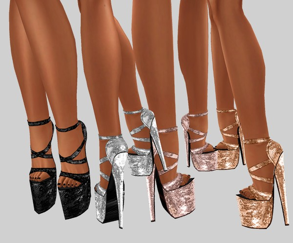 IMVU file sales: sequin and tattoos: platform shoes