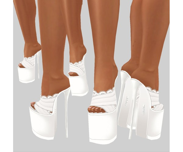IMVU file sales - white lace - boots 3