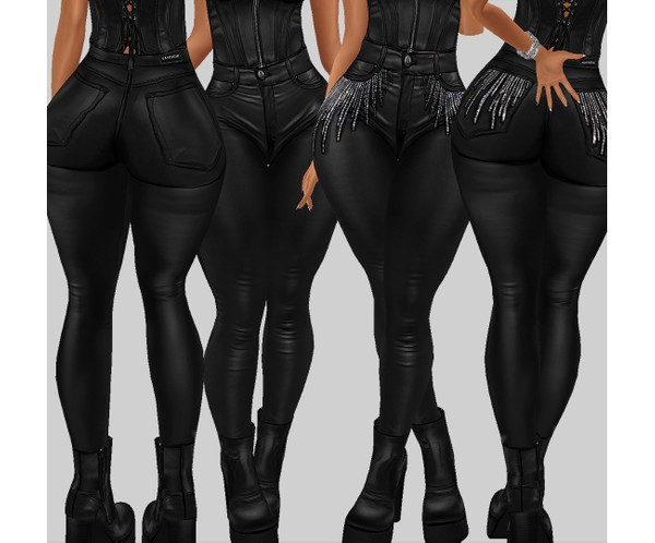 IMVU file sales - leather & rhinestones - sis3d bottom v2
