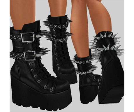 IMVU file sales - LEATHER - spiked boots