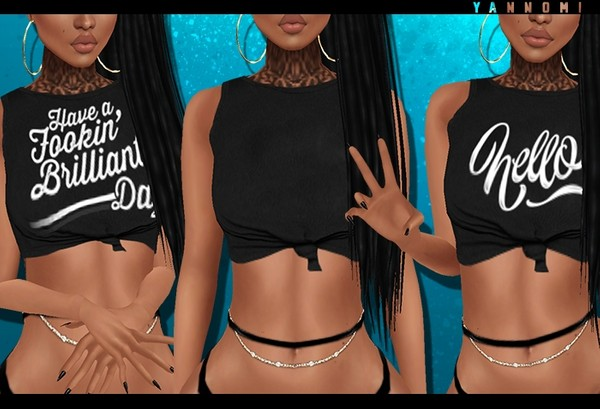IMVU 2018: knot top with texts