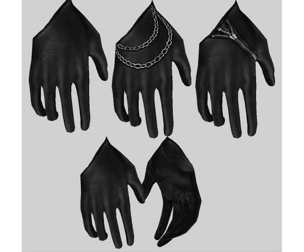 IMVU file sales - LEATHER - gloves