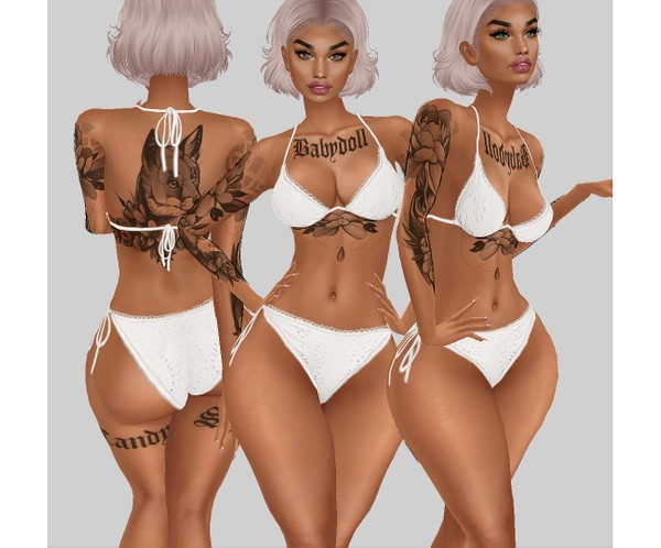 IMVU file sales - white lace - bikini 2