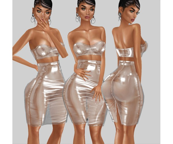 IMVU file sales - transparent 2 piece dress