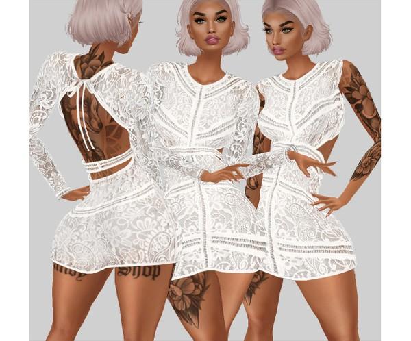 IMVU file sales - white lace - dress 1