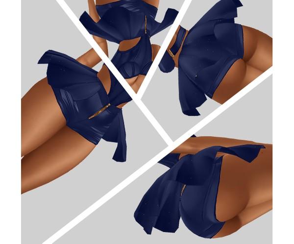 IMVU file sales - INDIGO - layerable skirt