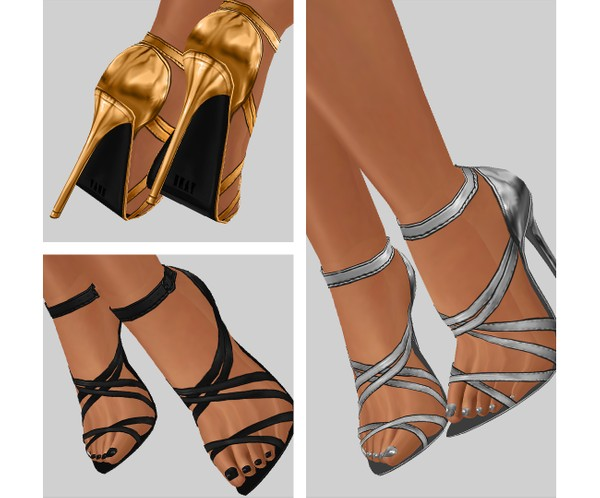 IMVU file sales - METALLIC - heels #2