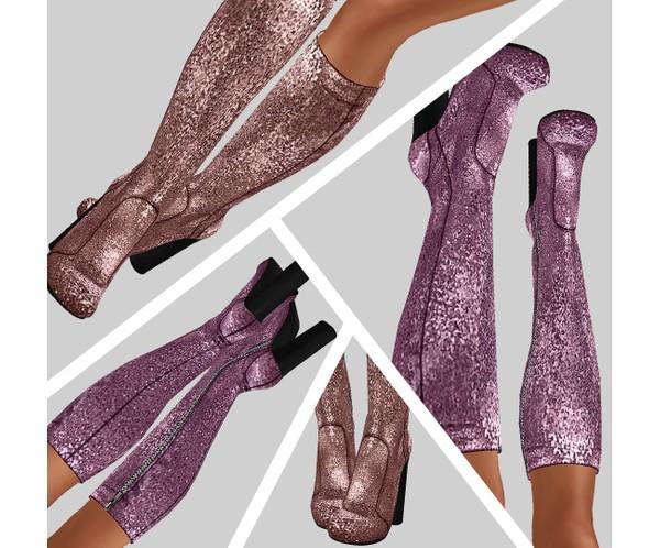 IMVU file sales - glitter high boots