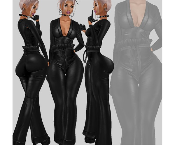 IMVU file sales - LEATHER - fashion full outfit