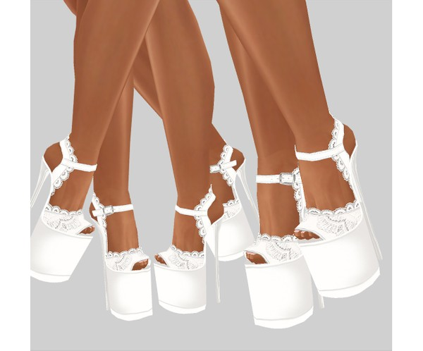 IMVU file sales - white lace - boots 1
