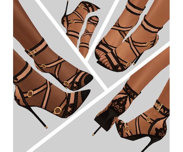 IMVU file sales - lace beige heels