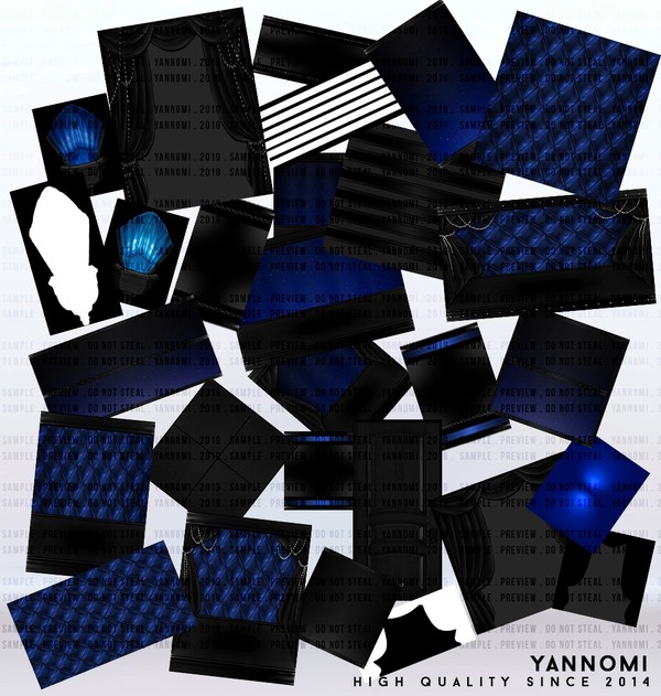 YANNOMI IMVU FS: room pack saphire