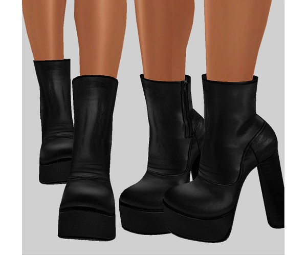 IMVU file sales - LEATHER - ankle platforms